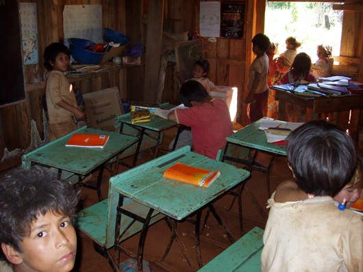 guarani children in school by dan ryan