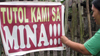 Sign protesting against mine in the Philippines
